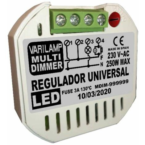 Varilamp MULTI DIMMER 250 regulador universal a pulsadores para cualquier Led regulable