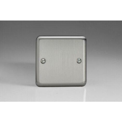 Varilight Classic Single Blank Plate with Black Inserts (Single XSSB) - Matt Chrome - XSSB