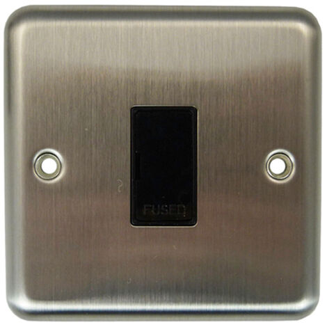Varilight Unswitched Fused Spur with Black Insert - Matt Chrome - XS6UBP