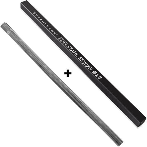 """main image of """"Varillas para soldar STAHLWERK ER307Si de acero inoxidable de alta aleación / Ø 1,6 x 500 mm / 1 kg material de aportación TIG Caja de almacenamiento incluida"""""""