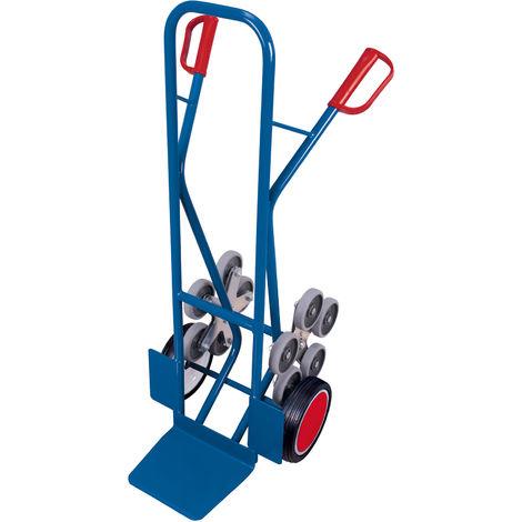 VARIOfit Treppenkarre 200kg Tragkraft gerade Streben mit 2 fünfarmigen Radsternen