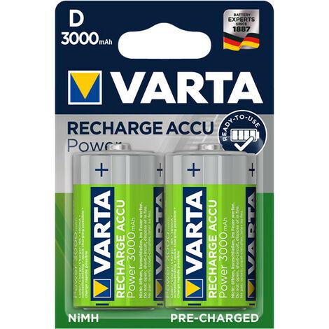 Varta Accu ni-mh D/LR20 1.24V-3000mAh 56720.101.402 (2pcs/bl) (56720.101.402)