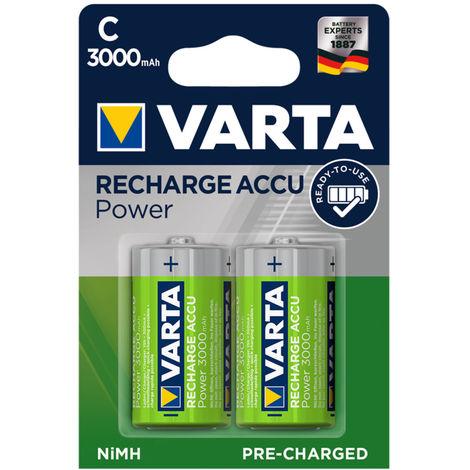 Varta Akku-Batterie Baby C, Ni/MH, 1,2 V, 3000 mAh (PACK à 2 STÜCK)