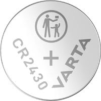 Varta Electronics CR2430 Knopfzelle CR 2430 Lithium 290 mAh 3V 1St. X37089