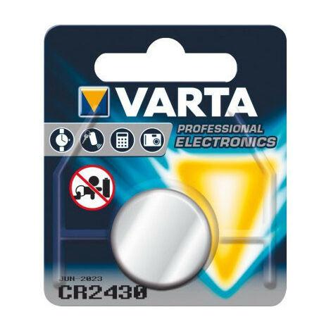 Varta Pile bouton CR 2430 3Volts Blister de 1