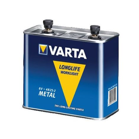 VARTA - Pile métal 6V SALINE à vis pour projecteur - 4R25-2M