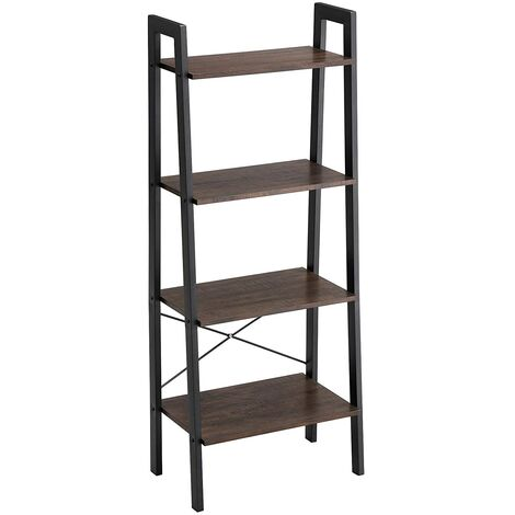 vasagle biblioth que de style industriel tag re chelle. Black Bedroom Furniture Sets. Home Design Ideas