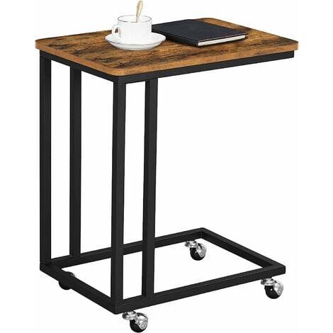 VASAGLE Bout de canapé, Table de Chevet de Style Industriel ...