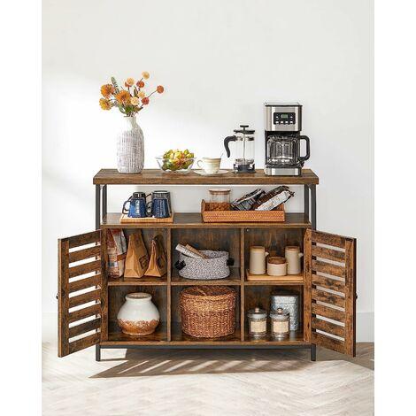 VASAGLE Floor Standing Cabinet, Kitchen Storage Cabinet ...