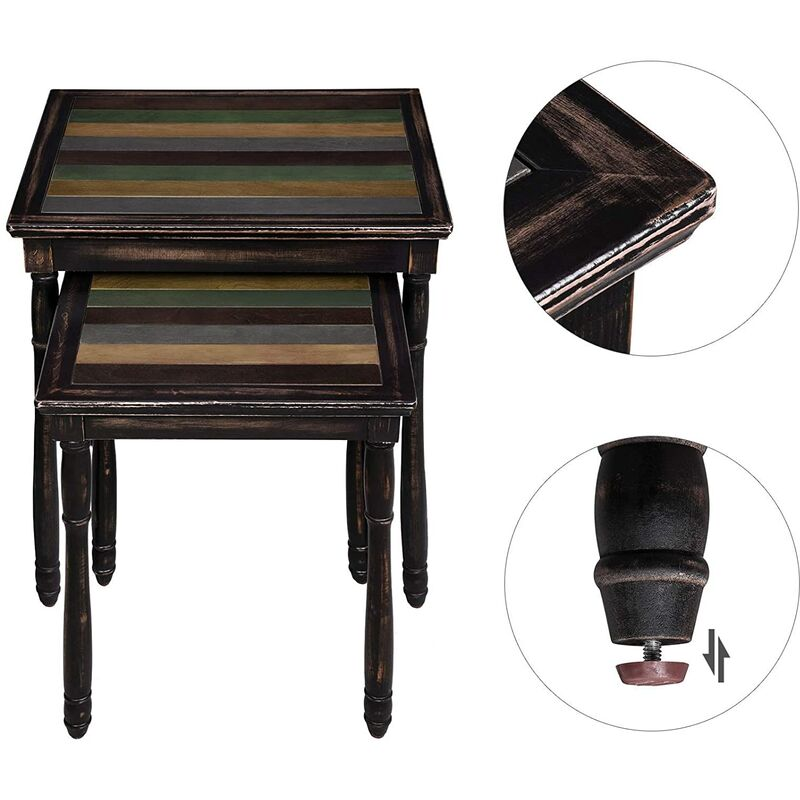 Brown Lnt01gl Pair Of 2 Coffee Tables