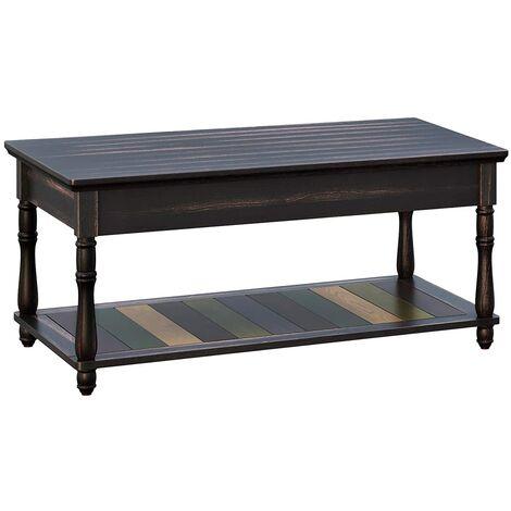 Vasagle Table Basse Avec Pieds En Bois Massif Planche
