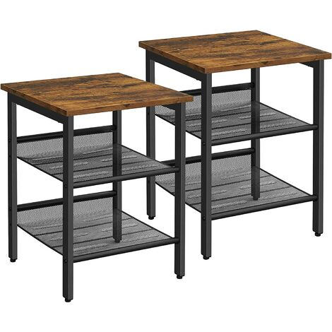 Vasagle Table De Chevet Bout De Canape Set De 2 Table D Appoint