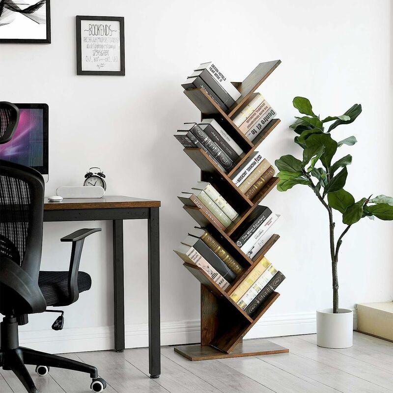 Vasagle Tree Bookshelf 8 Tier Floor Standing Bookcase With