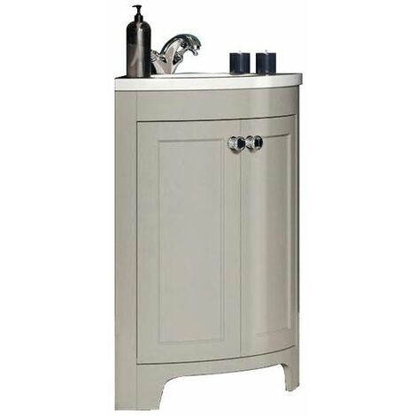 Vasari 450mm Corner Vanity Unit Tap Basin Sink Bathroom Cloakroom Floor Standing