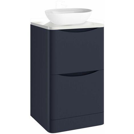 Vasari 600mm Floorstanding Vanity Unit Countertop Blue Basin Storage Cabinet