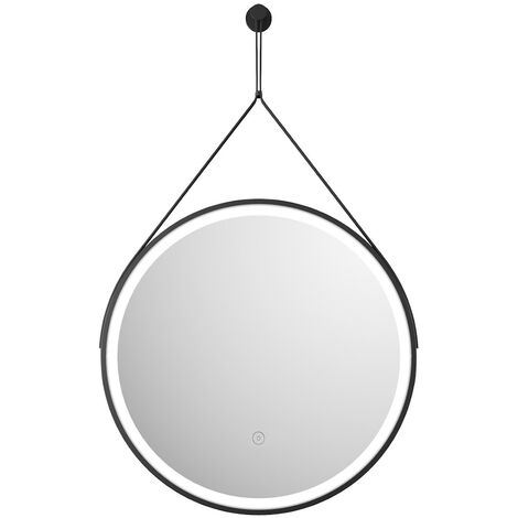 Vasari 600mm Round Bathroom LED Mirror Illuminated Wall Mounted Mains Power