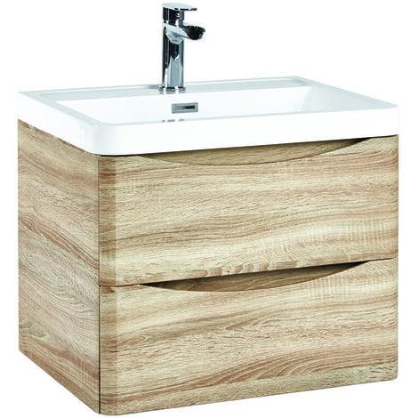 Vasari 600mm Wall Hung Vanity Unit Drawer Basin Sink Storage Cabinet Bathroom