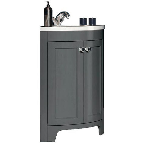Vasari Bathroom 450mm Corner Vanity Unit Single Tap Basin Sink Floor Standing