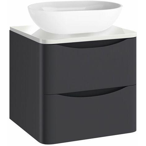 Vasari Bathroom 500mm Vanity Unit Storage Cabinet Wall Hung Countertop Basin
