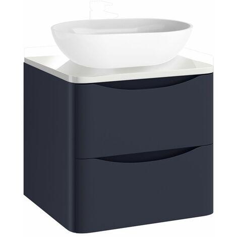 Vasari Bathroom 500mm Vanity Unit Storage Cabinet Wall Hung Countertop Blue