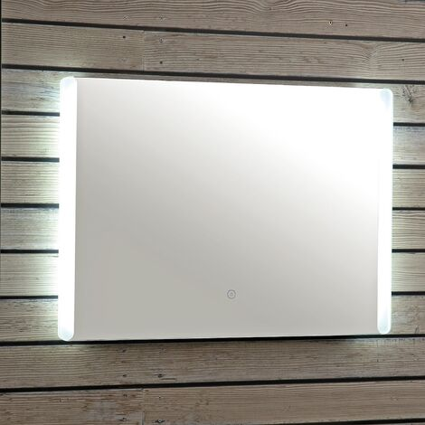 Vasari Bathroom LED Mirror Illuminated Wall Mounted Mains Power Demister 700x500