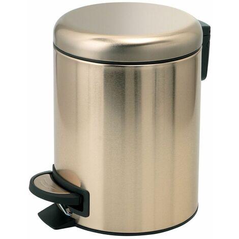 Vasari Bathroom Toilet WC Rubbish Waste Bin Round Pedal Gold 3 Litre Modern