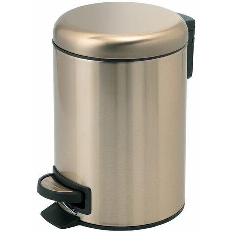 Vasari Bathroom Toilet WC Rubbish Waste Bin Round Pedal Gold 5 Litre Modern