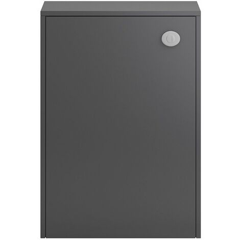 Vasari Camden Grey Gloss Concealed Toilet Cistern Unit 600mm Modern Bathroom