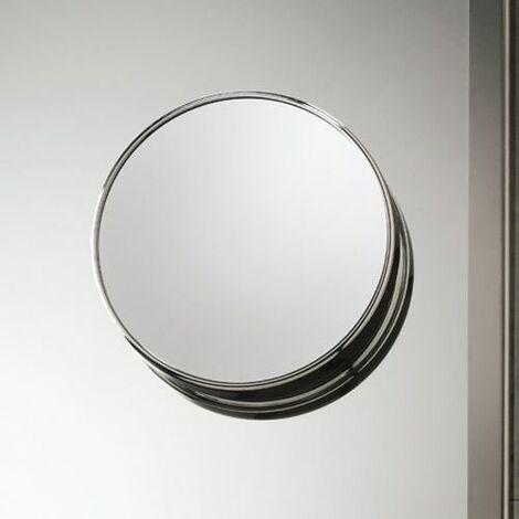 Vasari Chrome Round 5x Magnifying Suction Mirror 200mm x 200mm Stylish