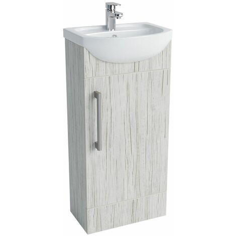 Vasari Cloakroom Bathroom Freestanding Vanity Unit Basin Sink 400mm White Wood