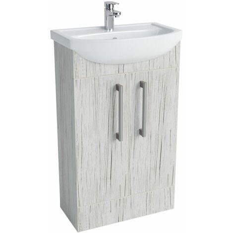 "main image of ""Vasari Cloakroom Bathroom Freestanding Vanity Unit Basin Sink 500mm White Wood"""