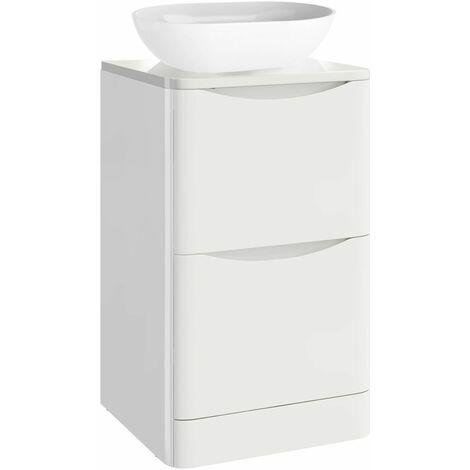 Vasari Floorstanding 500mm Bathroom Vanity Unit Countertop Storage Cabinet White