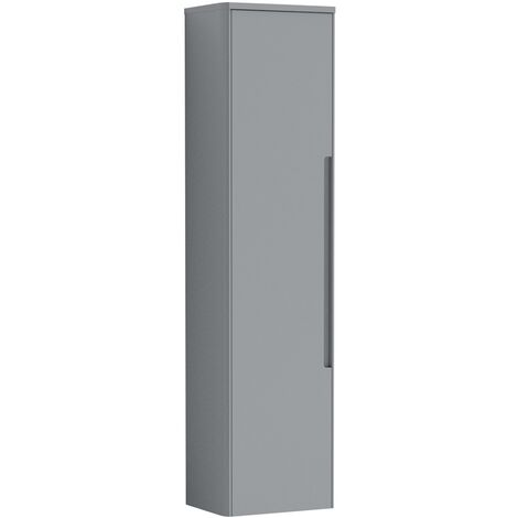 Vasari Forma Grey Modern Bathroom Furniture 350mm Tall Unit Storage Cabinet