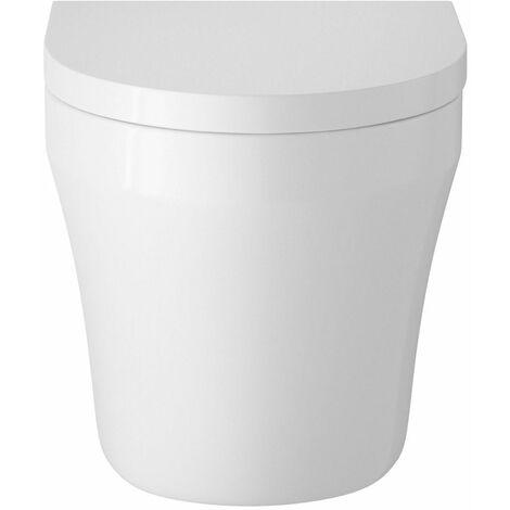 Vasari June Space Saving Toilet Pan Soft Close Seat White Ceramic Back to Wall