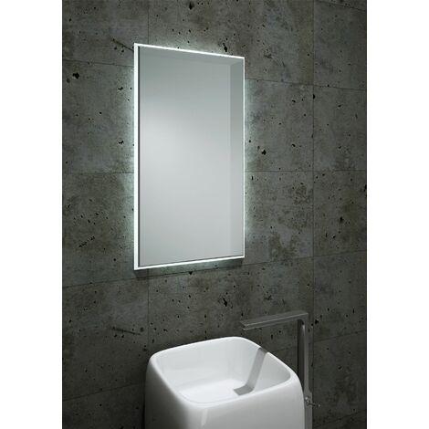 Vasari LED Lighted Modern rectangular Bathroom Mirror Mains Power 800 x 450mm