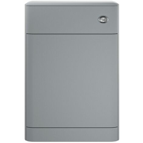 Vasari Marine Dove Grey Concealed Toilet Cistern Unit 550mm Modern Bathroom