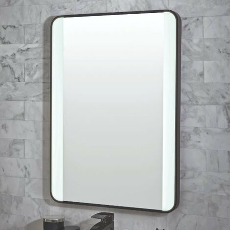 Vasari Mono LED Bathroom Mirror Demister Pad Colour Change 500mm x 700mm Mains