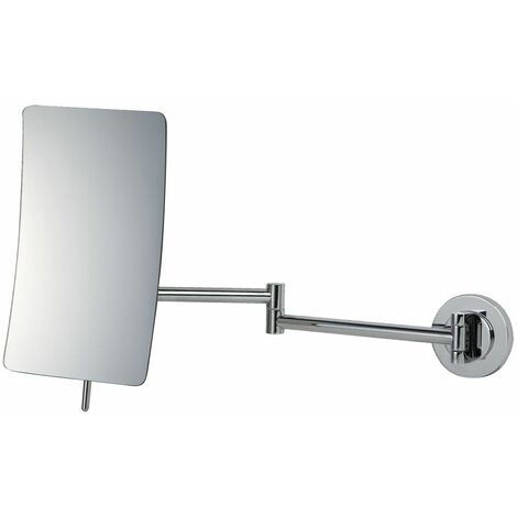 Vasari Reversible Square Wall Mounted 5x Magnifying Shaving Mirror 155mm x 205mm