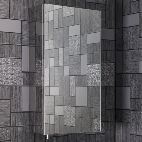 Vasari Stainless Steel Mirror Bathroom Cabinet