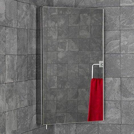 Vasari Stainless Steel Mirror Corner Bathroom Cabinet