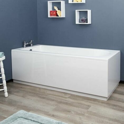 Vasari White Gloss MDF Side Panel - 1700mm