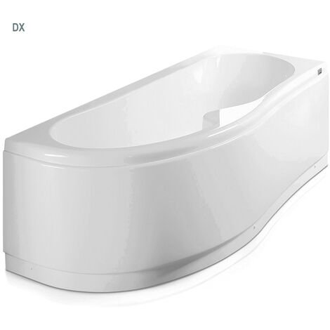 Vasca Bagno asimmetrica Curvy in acrilico e Abs cm 170x70- Versione Destra