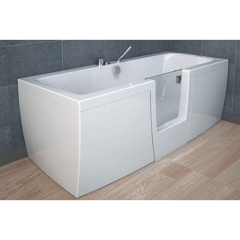 Vasca comfort 170x70 con porta centrale trasparente