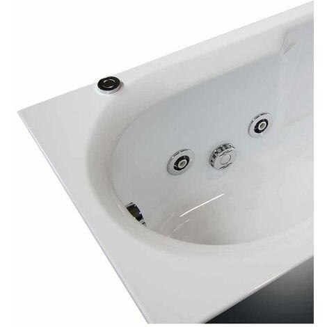 Vasca con sistema combinato touchscreen whirpool - airpool - cromoterapia in acrilico 160x70 cm - deniza vtc