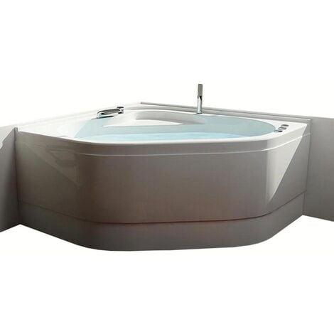 Vasca con telaio senza idromassaggio in acrilico 120x120 cm - camelia vtl