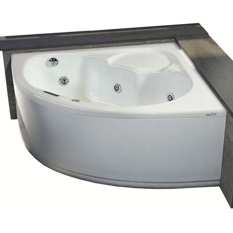 Vasca con telaio senza idromassaggio in acrilico 130x130 cm - vittoria vtl
