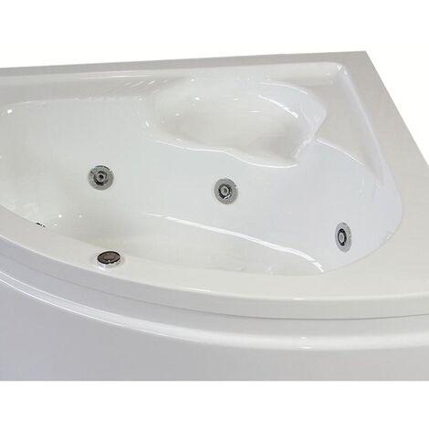 Vasca con telaio senza idromassaggio in acrilico 140x140 cm - laura vtl