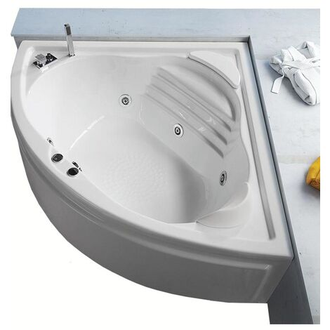 Vasca con telaio senza idromassaggio in acrilico 140x140 cm - niagara vtl