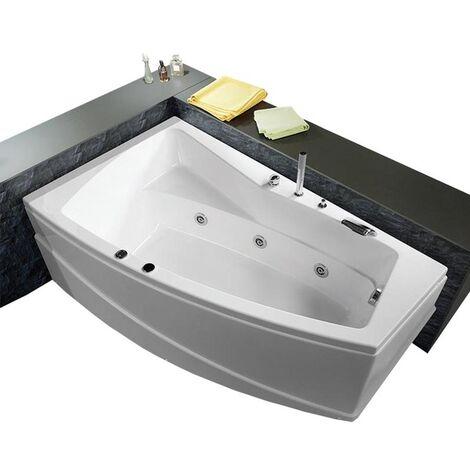 Vasca con telaio senza idromassaggio in acrilico 170x100x55 cm - greta vtl