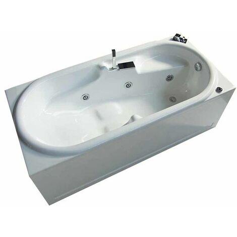 Vasca con telaio senza idromassaggio in acrilico 170x80 cm - erica vtl